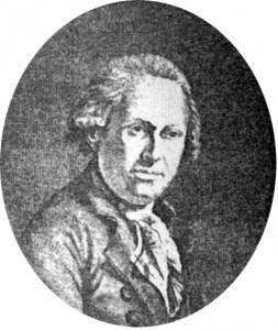 Retrato del químico y naturalista alemán Johann Friedrich Gmelin, primer en describir al tarpán durante un viaje por la ciudad rusa de Voronezh. Hoy día, alrededor de 90 variedades o especies taxonómicas llevan como epíteto específico su nombre en su honor.