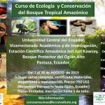 Biólogo, ¿Te vas a quedar sin ir al Amazonas?