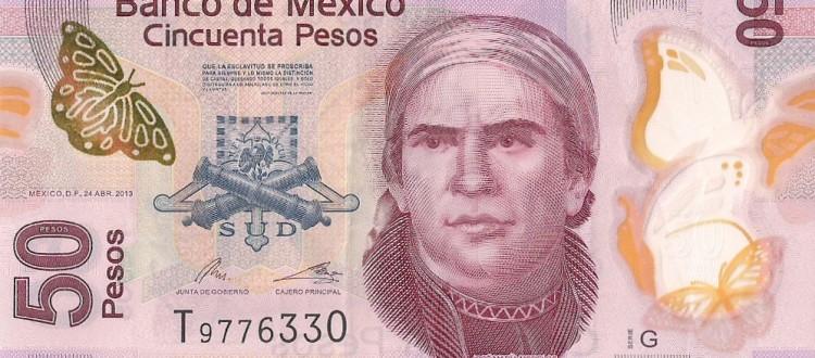 Anverso del billete de 50 pesos mexicanos