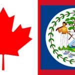 Banderas con Botánica: Canadá y Belice
